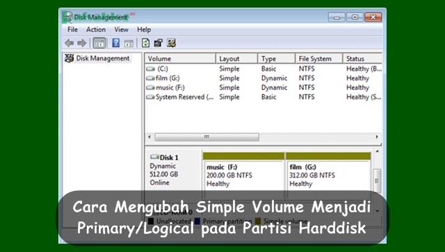 Cara Mengubah Simple Volume Menjadi Primary