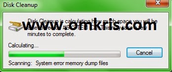 Jalankan Disk Clean UP