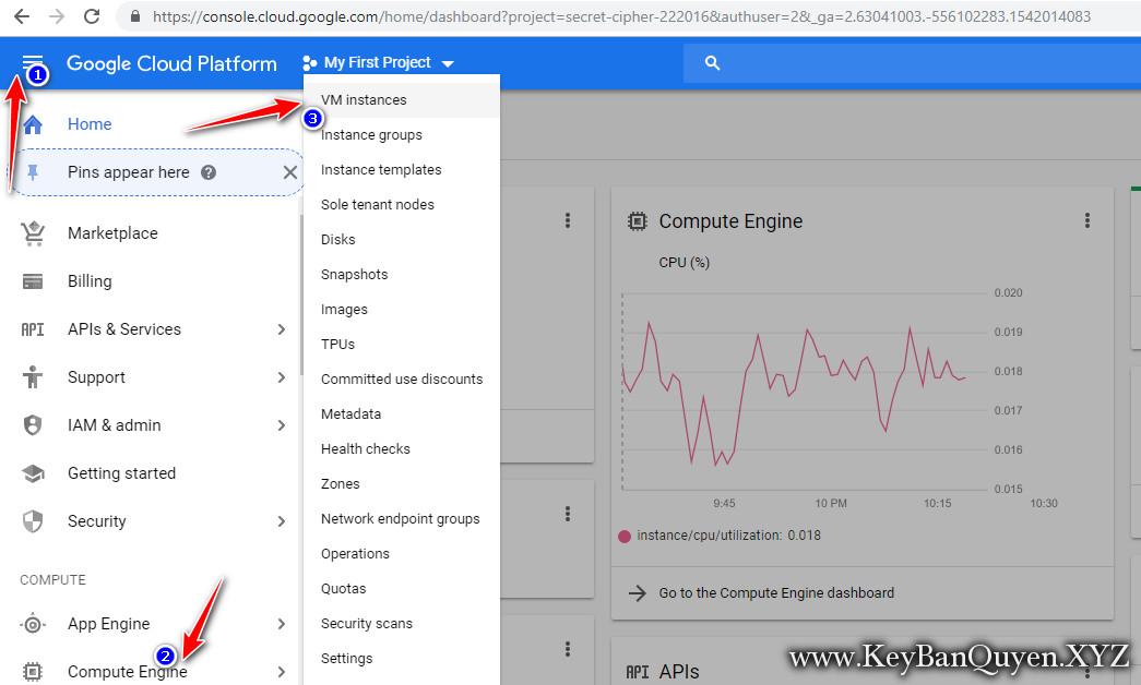 Hướng dẫn thay đổi  mật khẩu VPS trên Google Cloud