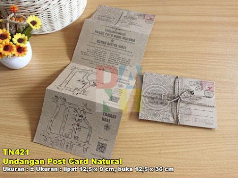 Undangan Post Card Natural