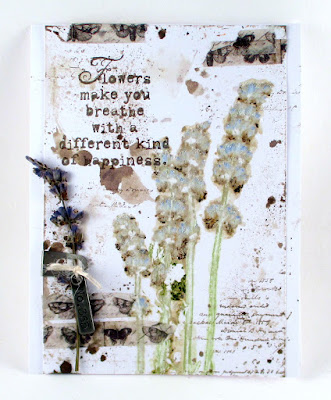 Idea-Ology Story Sticks Lavender Pressed Flowers Stampers Anonymous Entomology Tim Holtz Design Tape For the Funkie Junkie Boutique