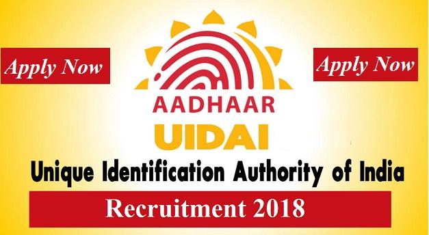 uidai recruitment 2018-19