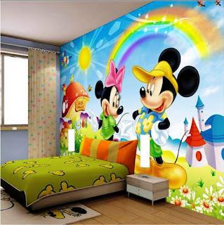Desain Kamar Anak Dan Wallpaper Mickey Mouse
