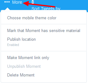 how to customize your twitter moment