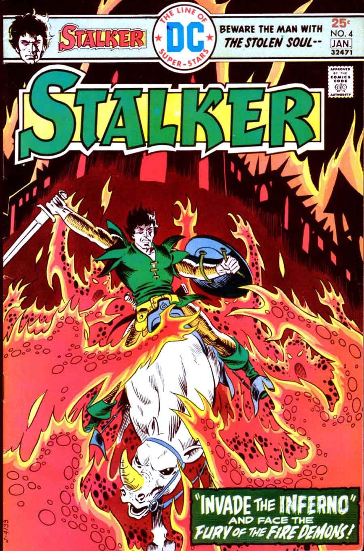 Stalker v1 #4 dc bronze age comic book cover art by Steve Ditko, Wally Wood