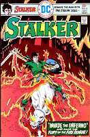 Stalker v1 #4 dc bronze age comic book cover art by Steve Ditko, Wally Wood
