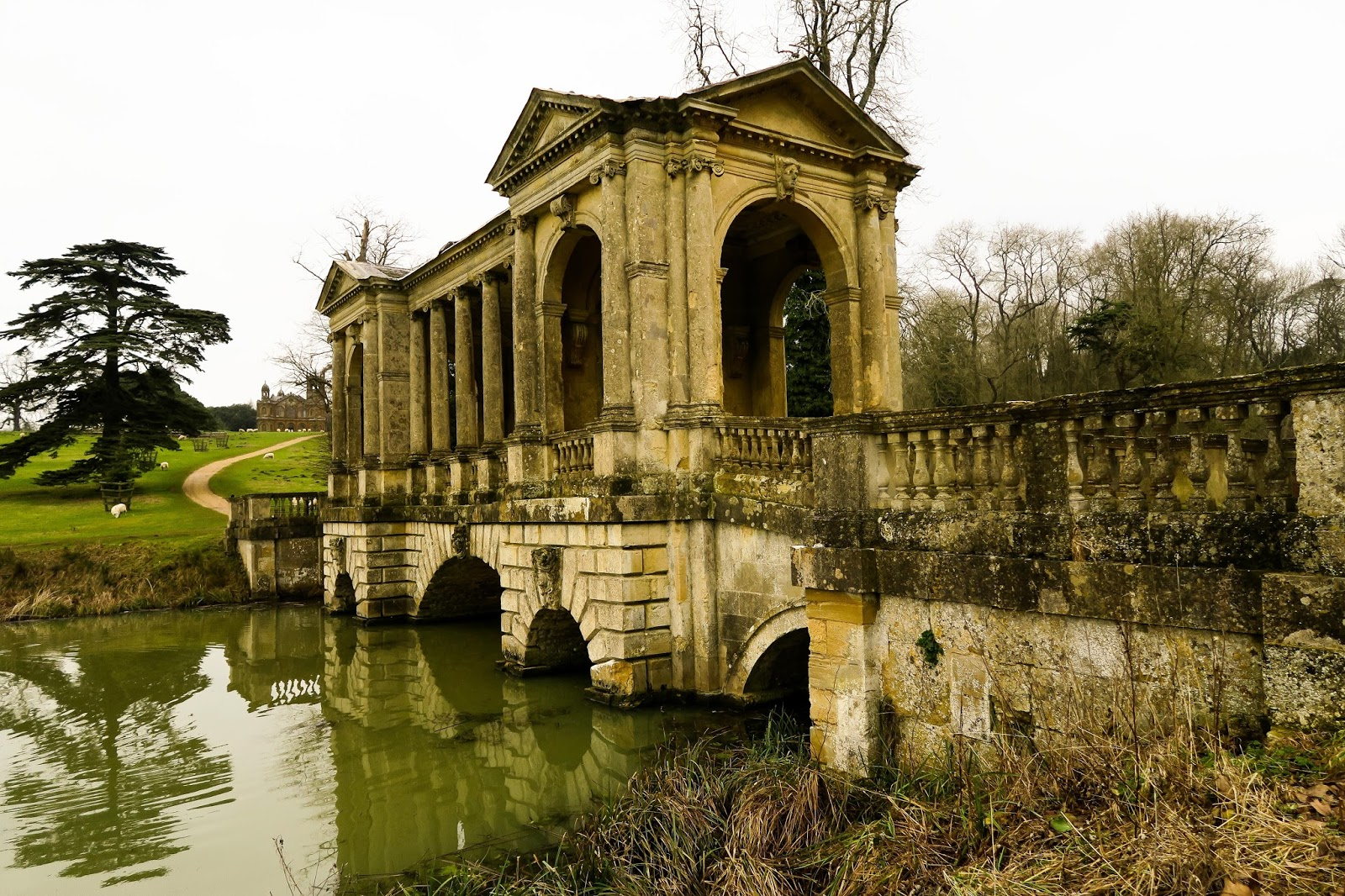 palladian bridge stowe national trust liquidgrain liquid grain