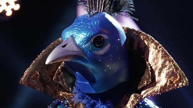 The Peacock from the Masked Singer accidentally revealed