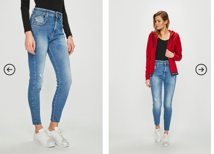 Diesel - Jeans Slandy cu talie inalta albastri moderni