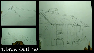How to draw outlines, house outline, outline for houses