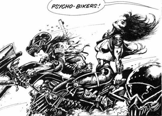 2000AD / ABC Warriors / Psycho Bikers by Simon 'Biz' Bisley 1987