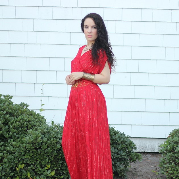 Red Gauze Maxi Dress