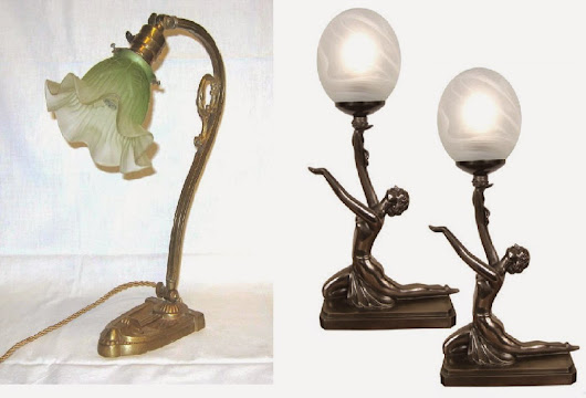 Antique and Classic Art Deco Lamps Enhance Most Any Room - A Room For Everyone
