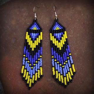 купить серьги в этническом стиле сережки из бисера в этно стиле цена фото