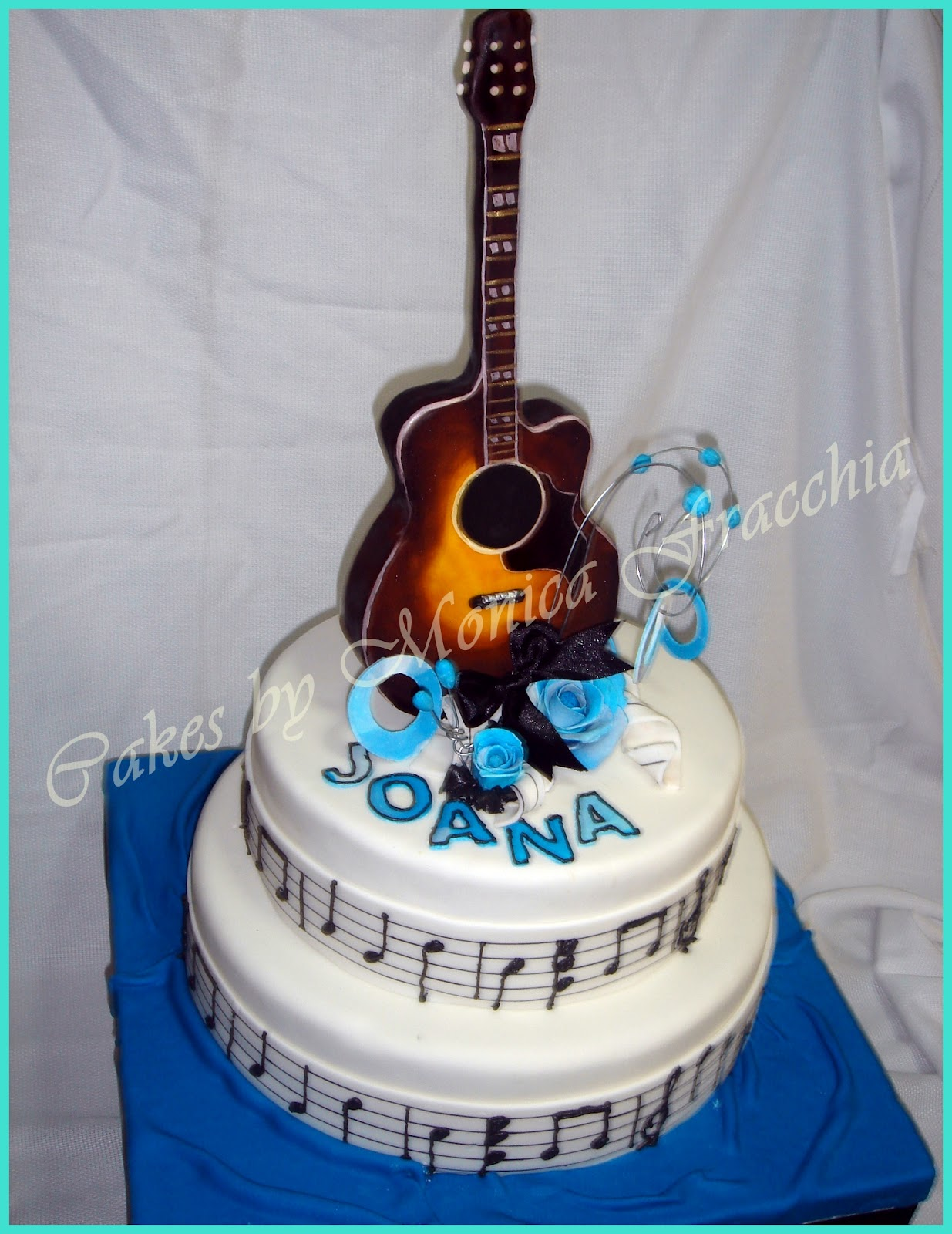 Guitarras Decoradas Tortas Cakes By Monica Fracchia Torta Decorada Guitarra