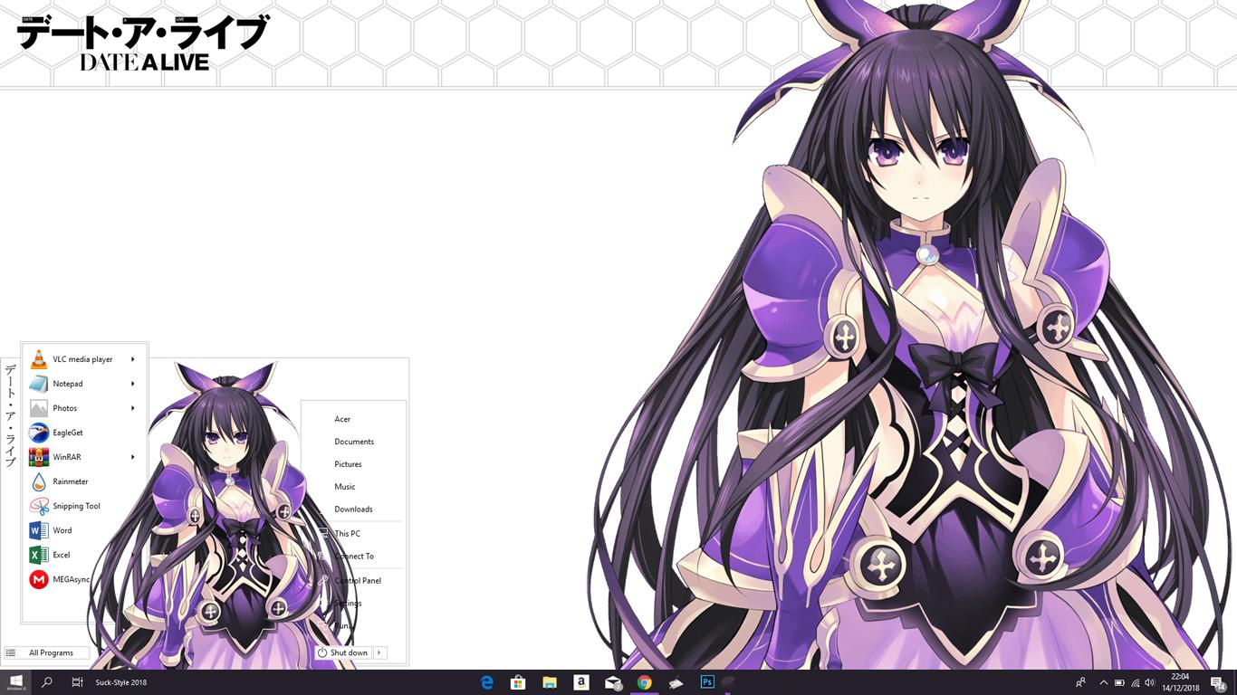 Theme Anime Windows 10 1803 Yatogami Tohka Date a Live