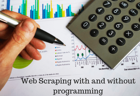 How to scrape a website with and without programming easily