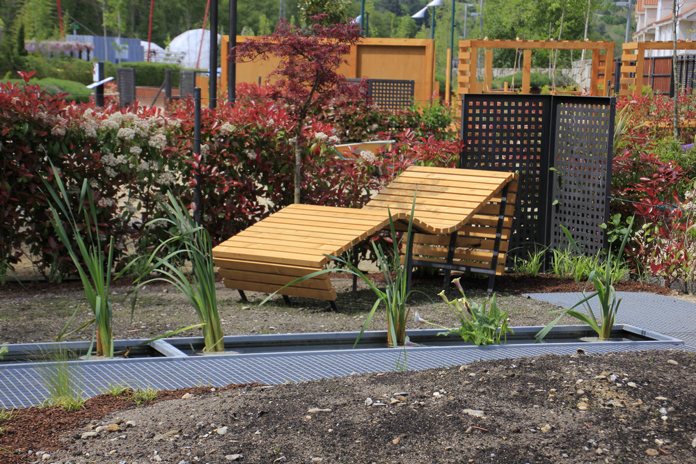 Tumbona del Festival de jardines en Allariz