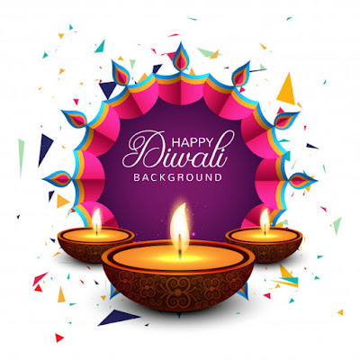 Happy Diwali Background Greeting Card Vector Free Download