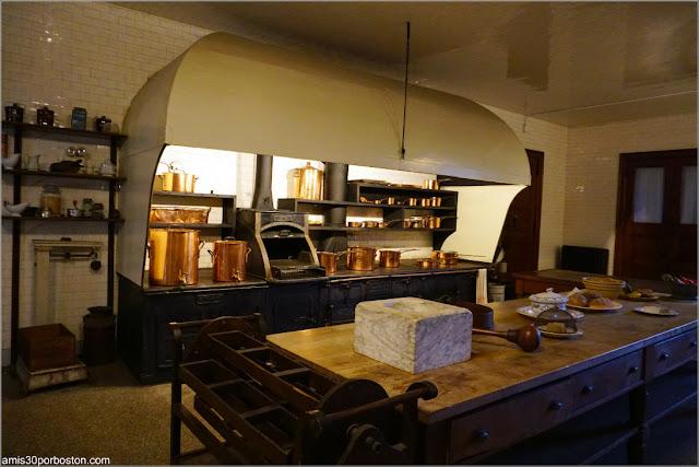 Cocina de la Mansión The Elms en Newport