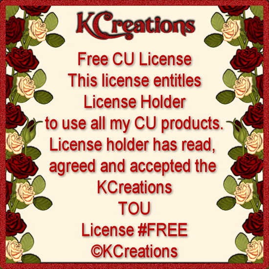 KCreations Free CU License
