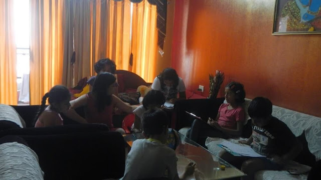 Kids giving Puzzle Test during The Science and Fun Learning Camp 2014