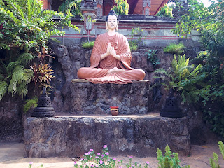 Peaceful Place Buddha Statue And The Garden At Brahmavihara Arama Monastery North Bali