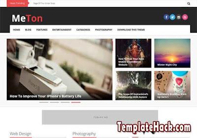 meton blogger template