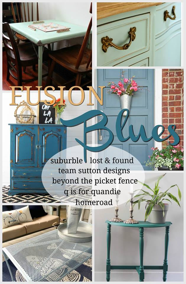 Painting Outdoor Furniture In Beautiful Blue And A Giveaway
