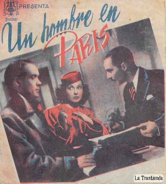 Programa de Cine - Un Hombre en París - Valerie Hobson - Alastair Sim