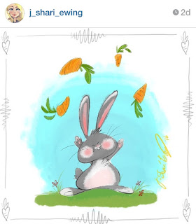 easter bunny illustration spring j shari ewing