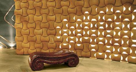 arsitektur dinding modern dengan tekstur unik | desain