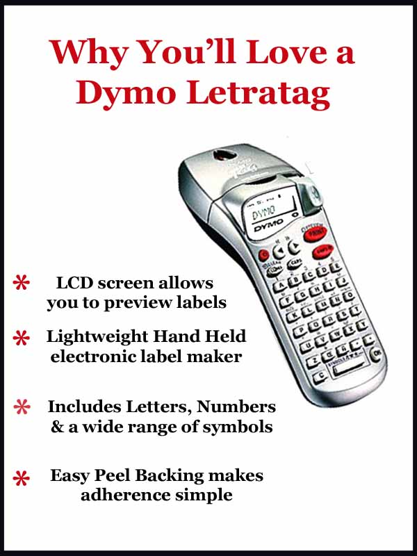 Features of the Dymo Letratag label printer