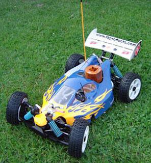 Nitro Powered mini RC Car