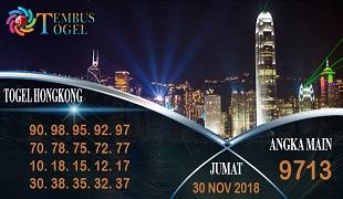 Prediksi Angka Togel Hongkong Jumat 30 November 2018