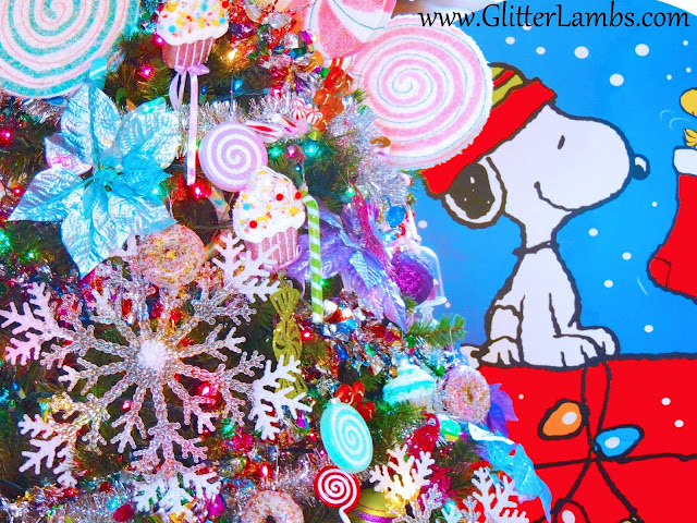 Candyland Christmas Tree Ornaments Decorations Lollipops Candy Snoopy Cardboard Prop Decoration Oriental Trading