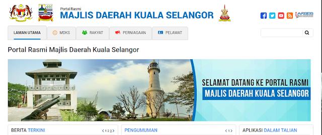 Rasmi - Jawatan Kosong (MDKS) Majlis Daerah Kuala Selangor Terkini 2019