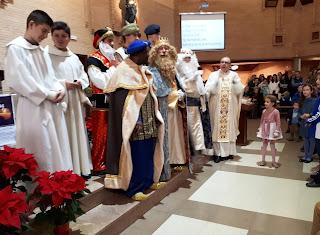 Visita de los Reyes Magos a nuestra parroquia