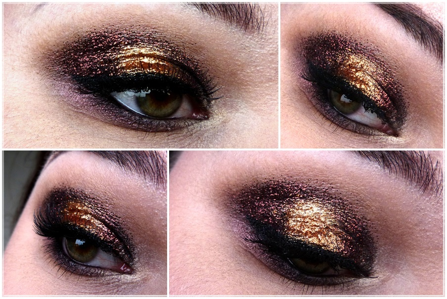 eye make up stila comex gold foil finish