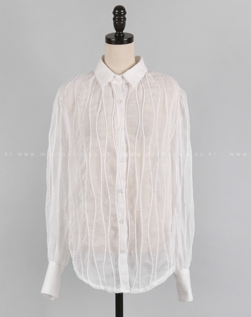 Sheer Button-Down Blouse
