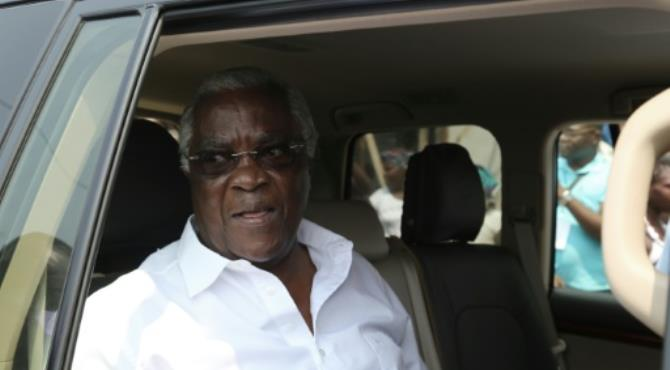 Sao Tome and Principe's incumbent President Manuel Pinto da Costa sits in his car after voting during presidential elections on July 17, 2016 in the capital Sao Tome. By Samir Tounsi (AFP/File)  São Tomé (AFP) - The president of the west African state of Sao Tome and Principe, attacking the country's elections for head of state as fraudulent, says he will not take part in next Saturday's runoff vote.