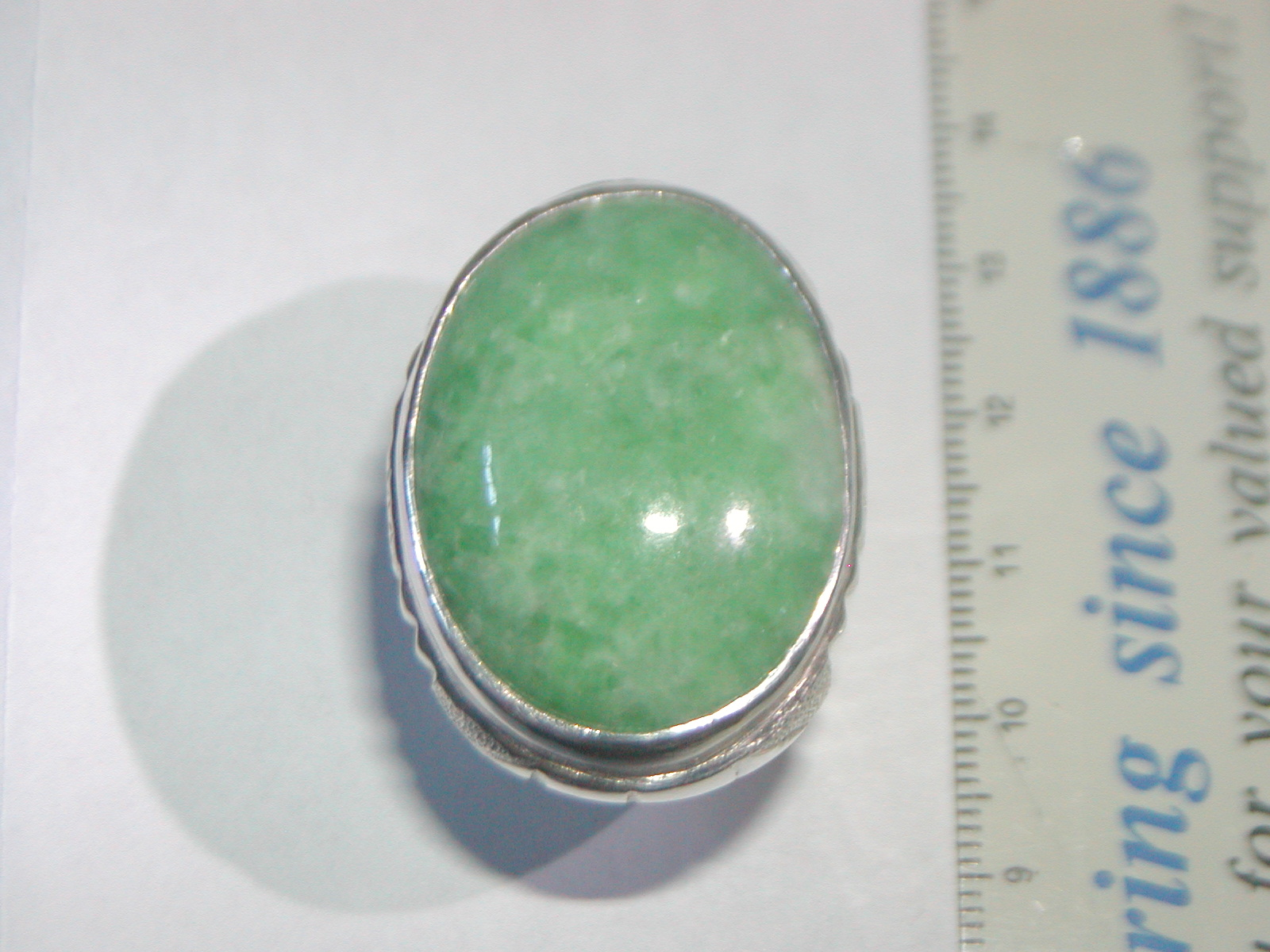 His Jewellery Burmese Jade Ring