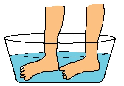Fußbad gegen fußpilz und nagelpilz