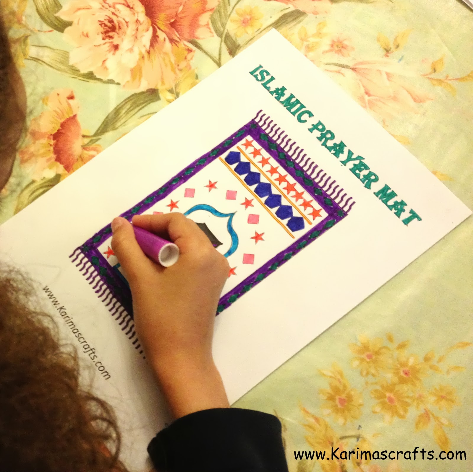 Karima S Crafts Islamic Placemat And Worksheets