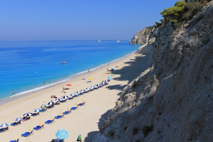 Egremni Beach, Lefkas, Lefkada / Kreikka