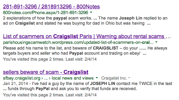Admirable Coverage Counsel Joseph Lin And The Craigslist Paypal Scam Home Interior And Landscaping Synyenasavecom