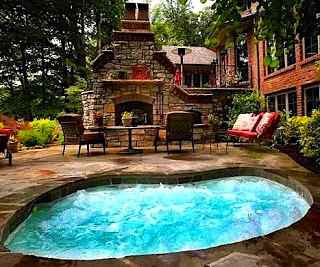 Backyard retreat with nice swimming pool.