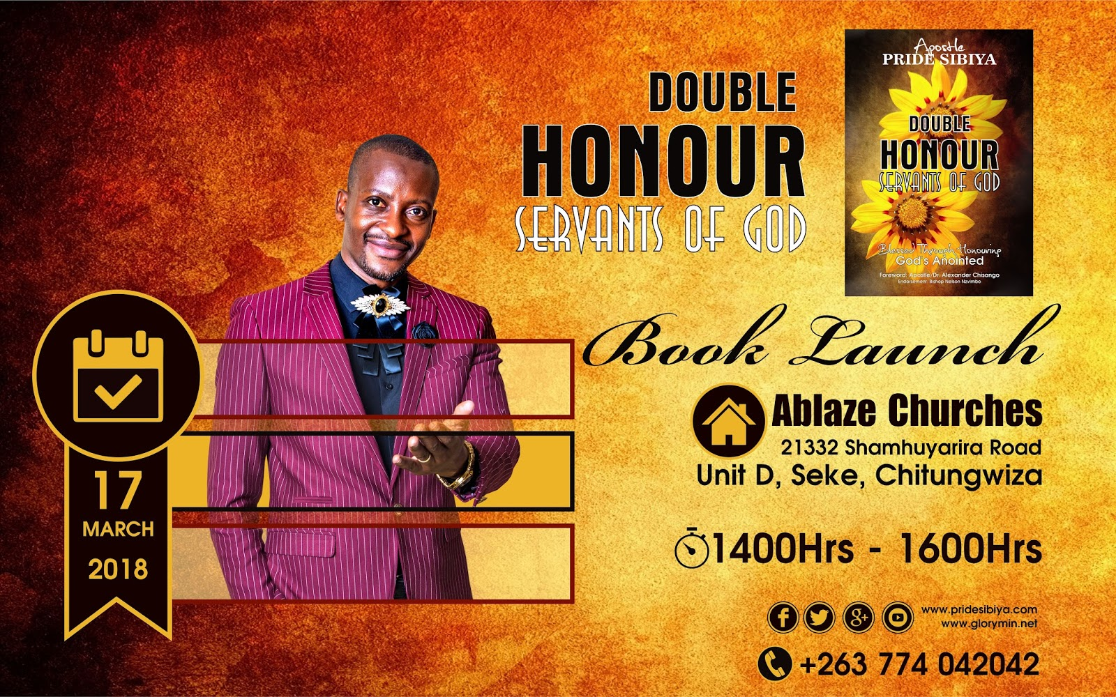 Double Honour Servants of God By Apostle P. Sibiya - Book Endorsement By Bishop Nelson Nzvimbo