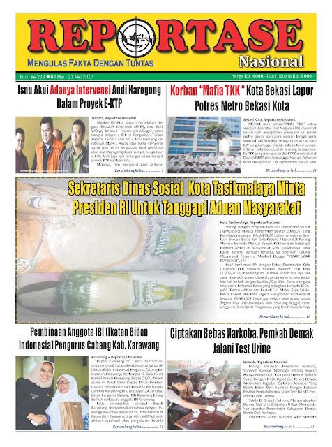 Reportase Nasional Edisi 238 Tanggal 8 Mei - 21 Mei 2017