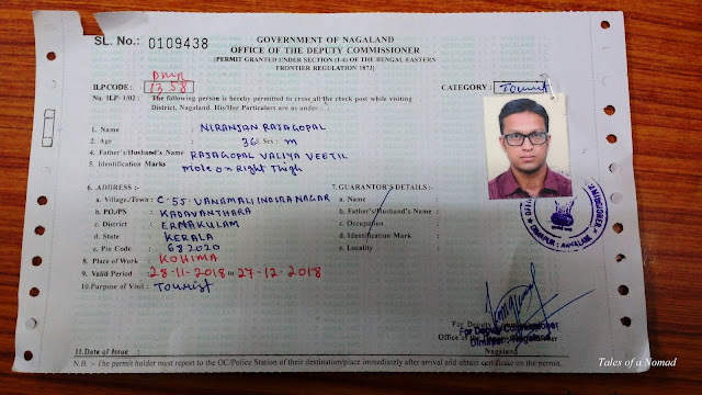 Nagaland ILP for Indians